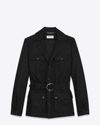 SAINT LAURENT Casual Jackets D SAHARIENNE Jacket in Black Cotton Gabardine f