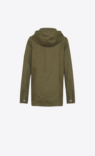 SAINT LAURENT Dresses D Parka Dress in Khaki Cotton Gabardine b_V4