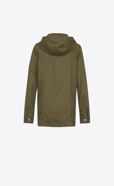 SAINT LAURENT Kleider D Parkakleid aus khakifarbenem Baumwollgabardine b_V4
