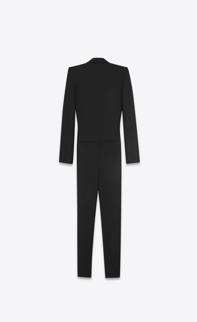 SAINT LAURENT LONG DRESSES D Iconic LE SMOKING Jumpsuit in Black Wool b_V4