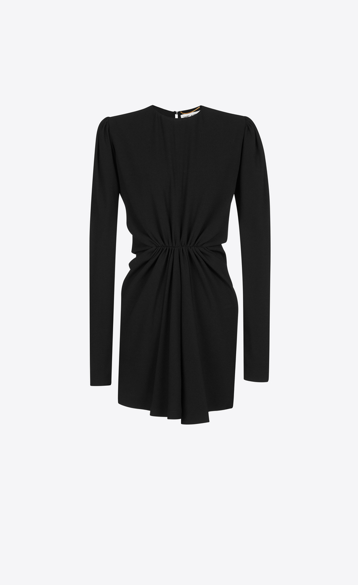 gathered waist shirt dress - Black Saint Laurent jRCJUhoVq