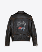 SAINT LAURENT Leather jacket D Classic BOUCHE SAINT LAURENT Motorcycle Jacket in Black Vintage Leather f