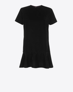 SAINT LAURENT Dresses D Short Sleeve mini dress in Black Sablé f
