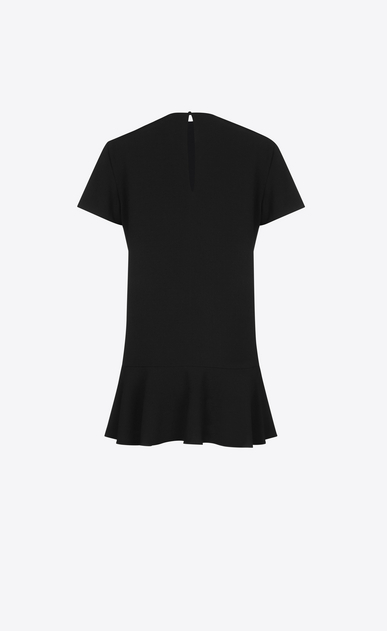 SAINT LAURENT Dresses Woman Short Sleeve mini dress in Black Sablé b_V4