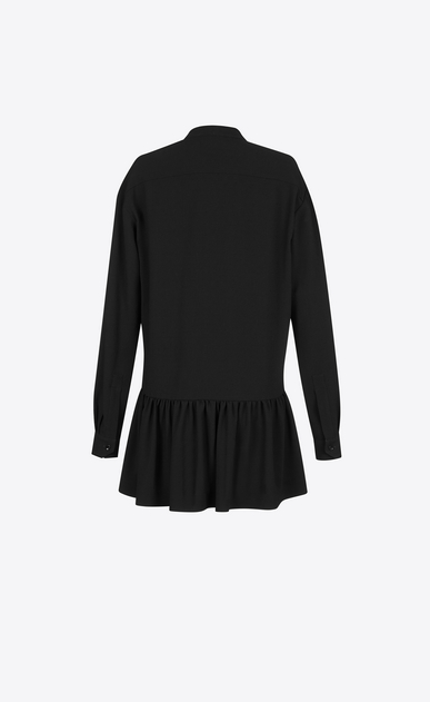 SAINT LAURENT Dresses Woman Lavaliere Mini Dress in Black Sablé b_V4