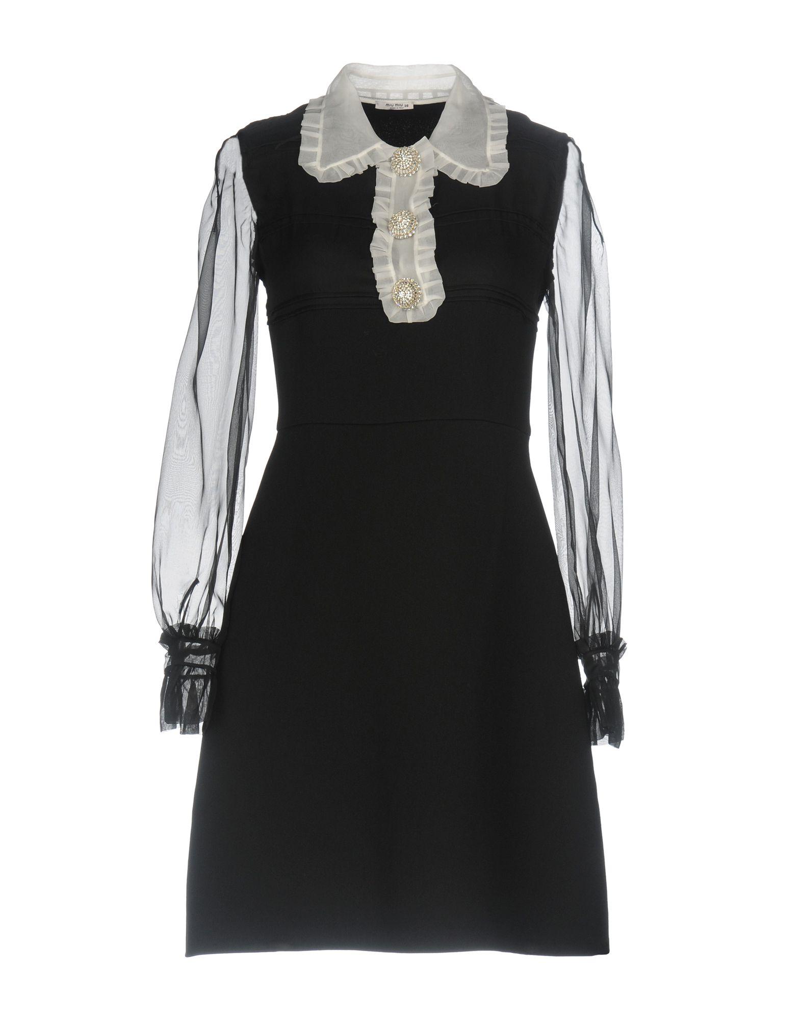 MIU MIU Короткое платье miu miu длинное платье