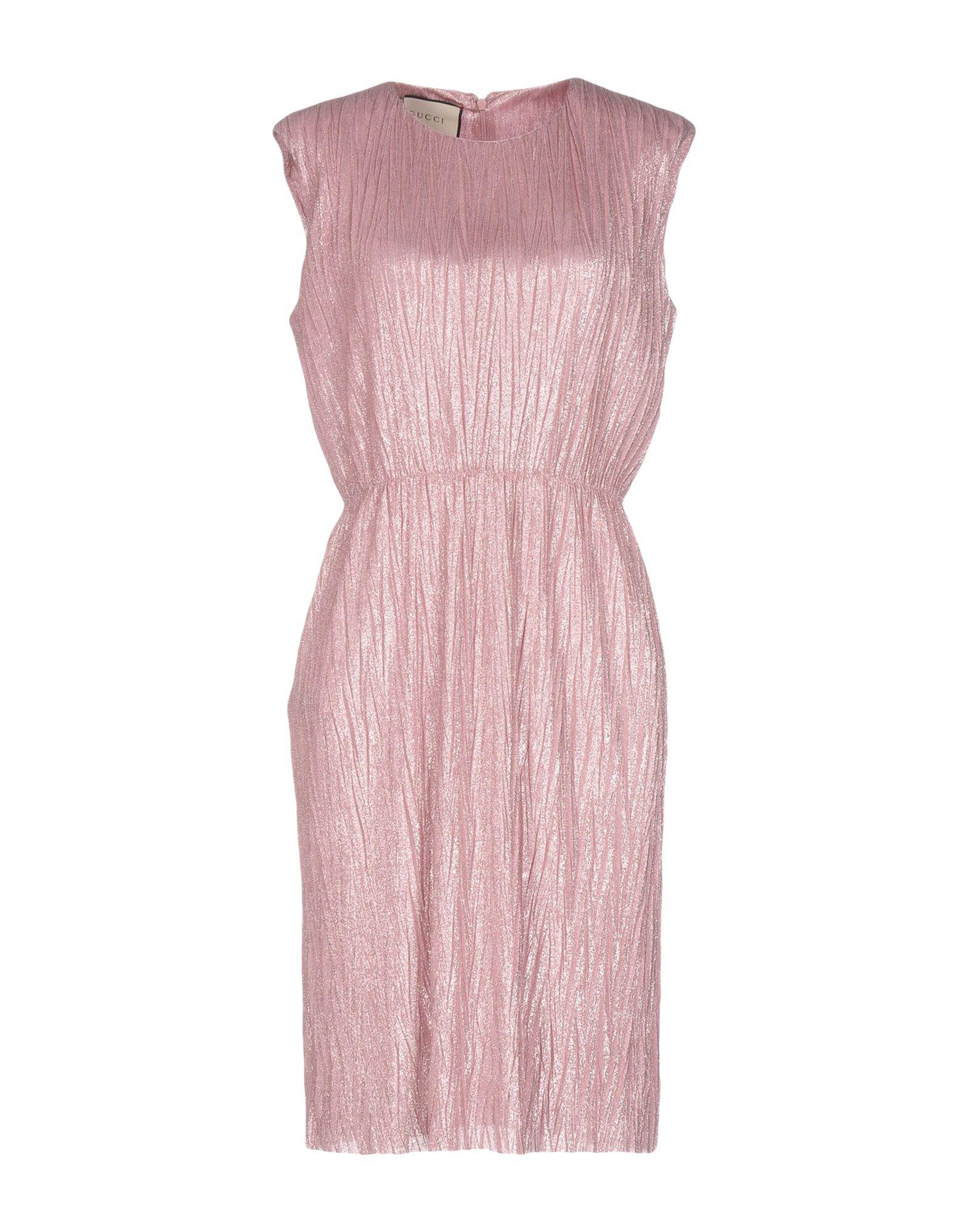 GUCCI Damen Knielanges Kleid Farbe Rosa Größe 7