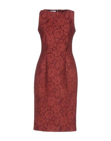 Купить Платье до колена красно-коричневого цвета