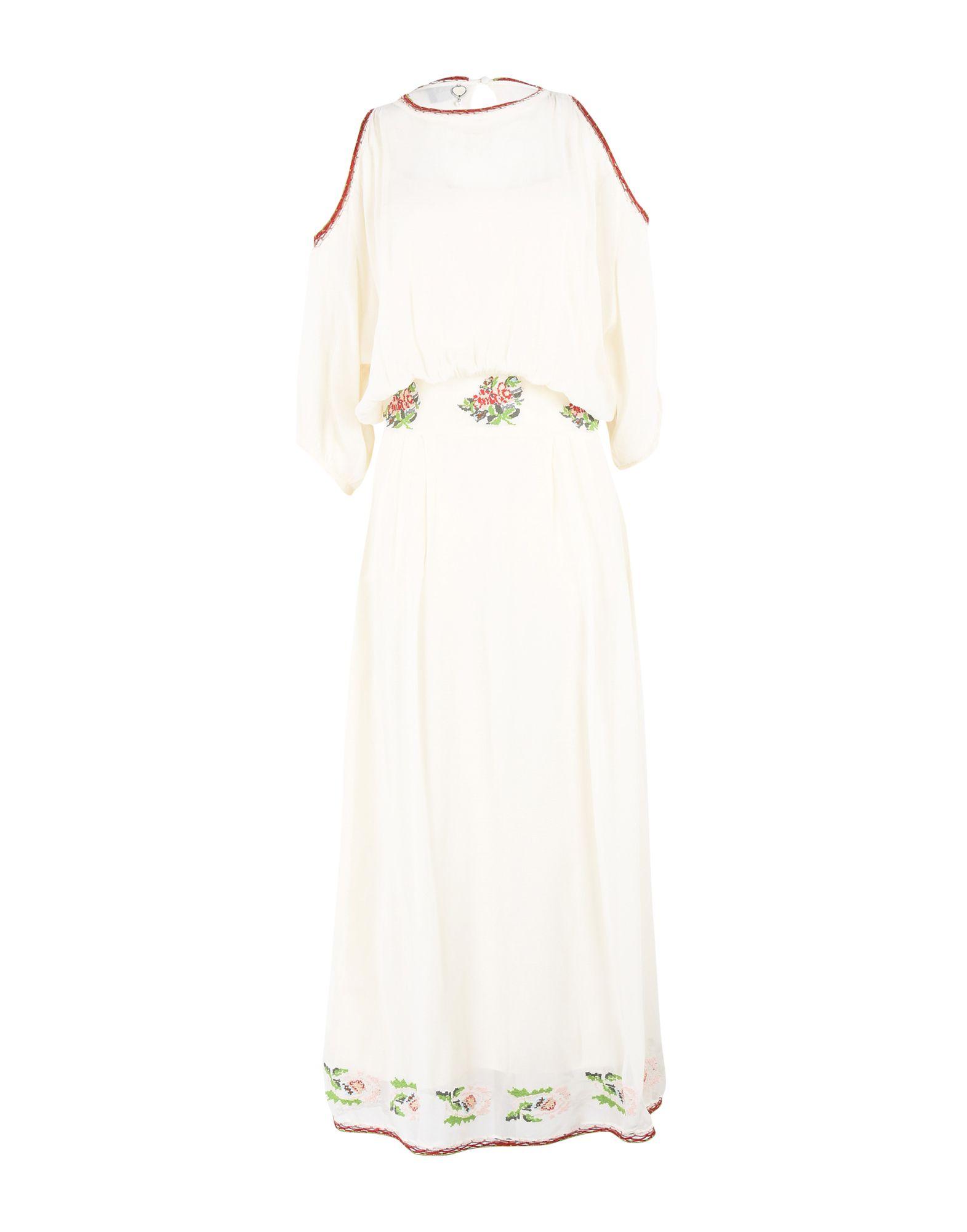 Фото TWIN-SET JEANS Длинное платье. Купить с доставкой