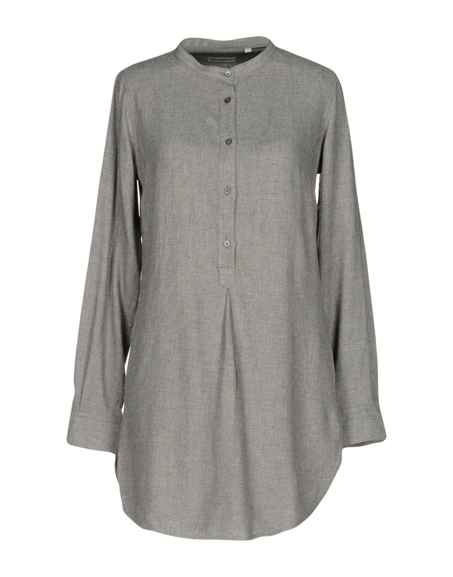 《送料無料》CAMICETTASNOB レディース ミニワンピース&ドレス 鉛色 44 レーヨン 100%