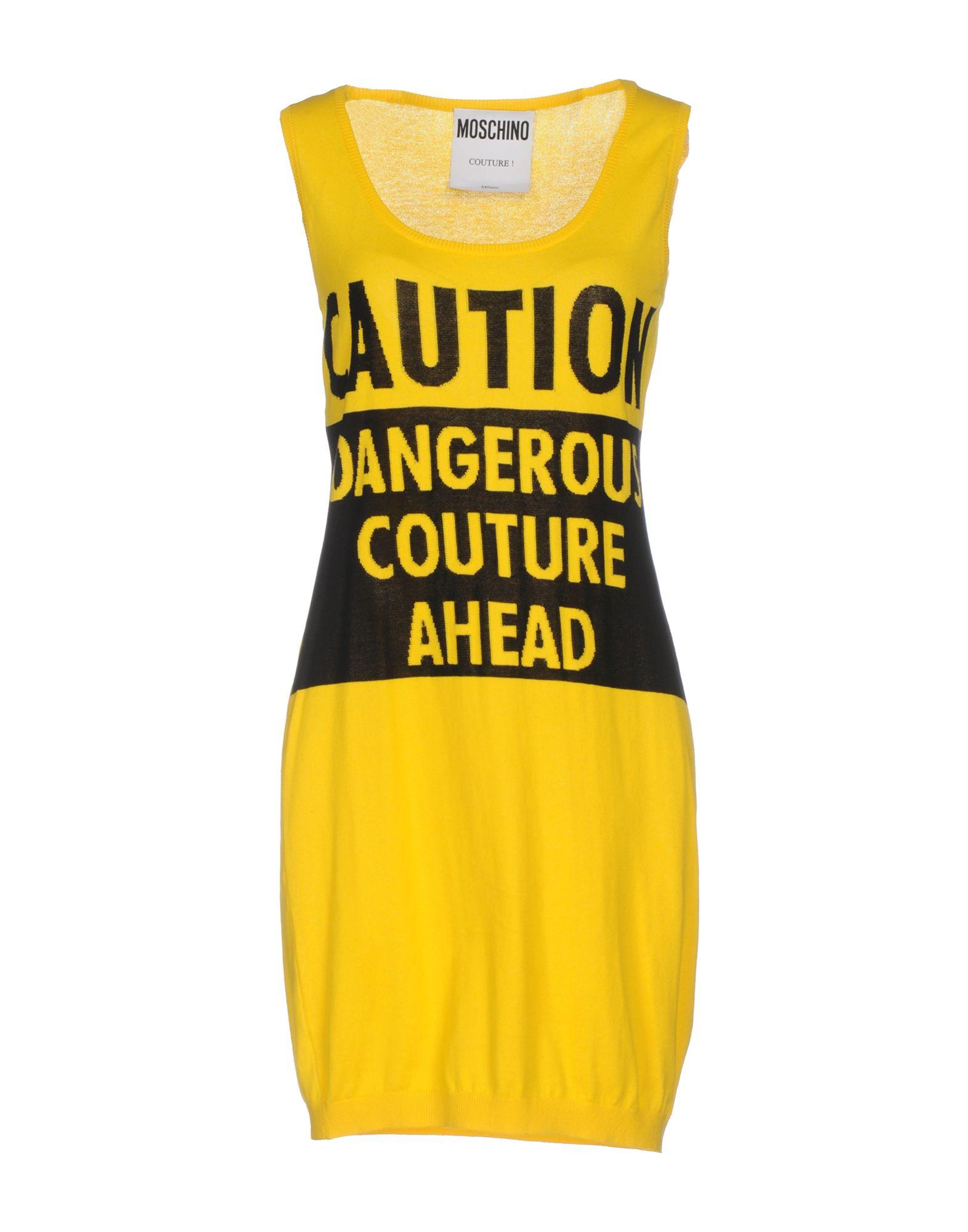MOSCHINO Damen Kurzes Kleid Farbe Gelb Größe 4