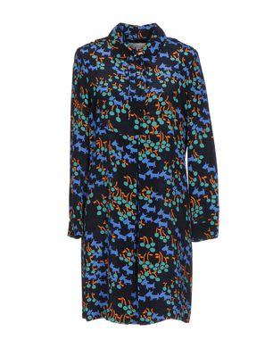 L´ AUTRE CHOSE Damen Kurzes Kleid Farbe Dunkelblau Größe 4