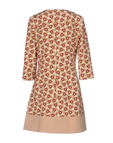 PATRIZIA PEPE Damen Kurzes Kleid Beige Größe 32 90% Polyester 10% Elastan Polyamid