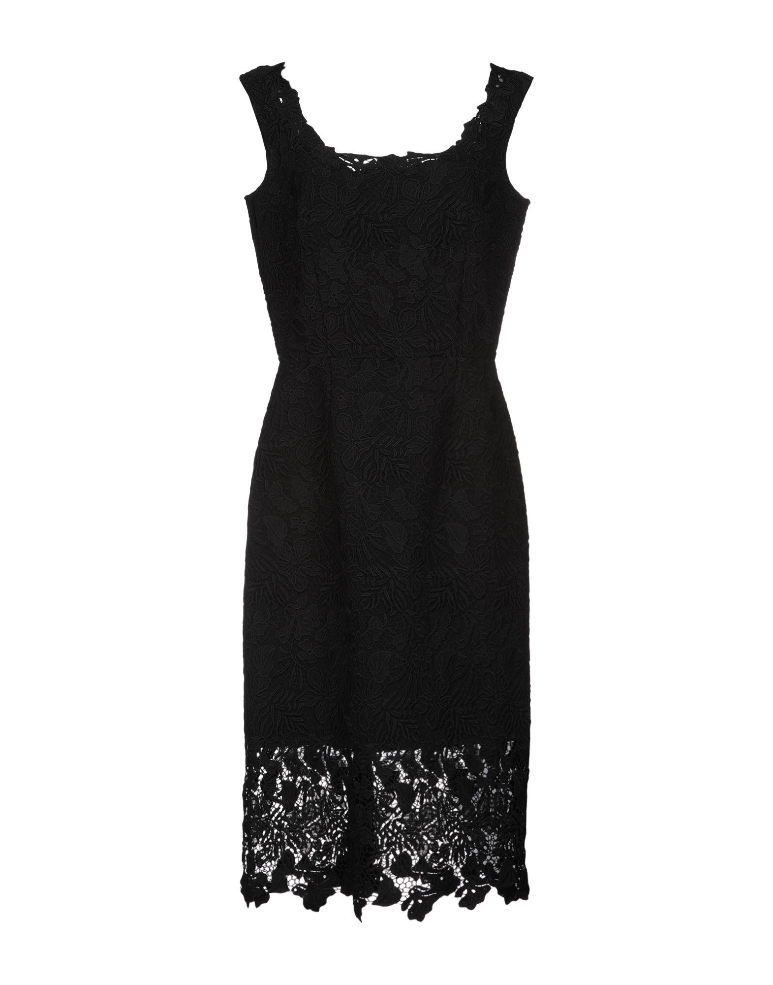 Платье до колена  Черный цвета
