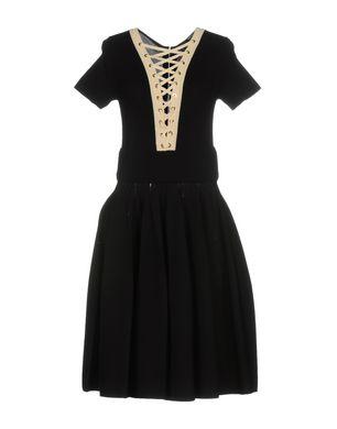 ELISABETTA FRANCHI Damen Knielanges Kleid Farbe Schwarz Größe 6 Sale Angebote