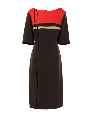 Платье до колена CAILAN'D. Цвет: темно-коричневый