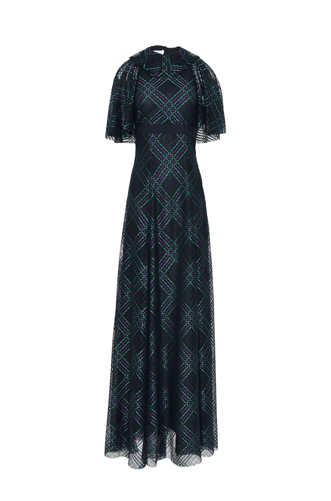 レース・タータン・ドレス