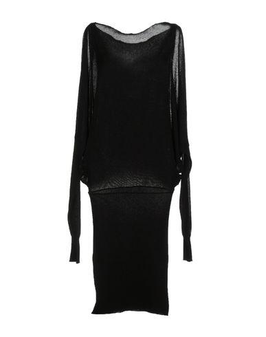 Платье до колена PAOLO ERRICO. Цвет: черный