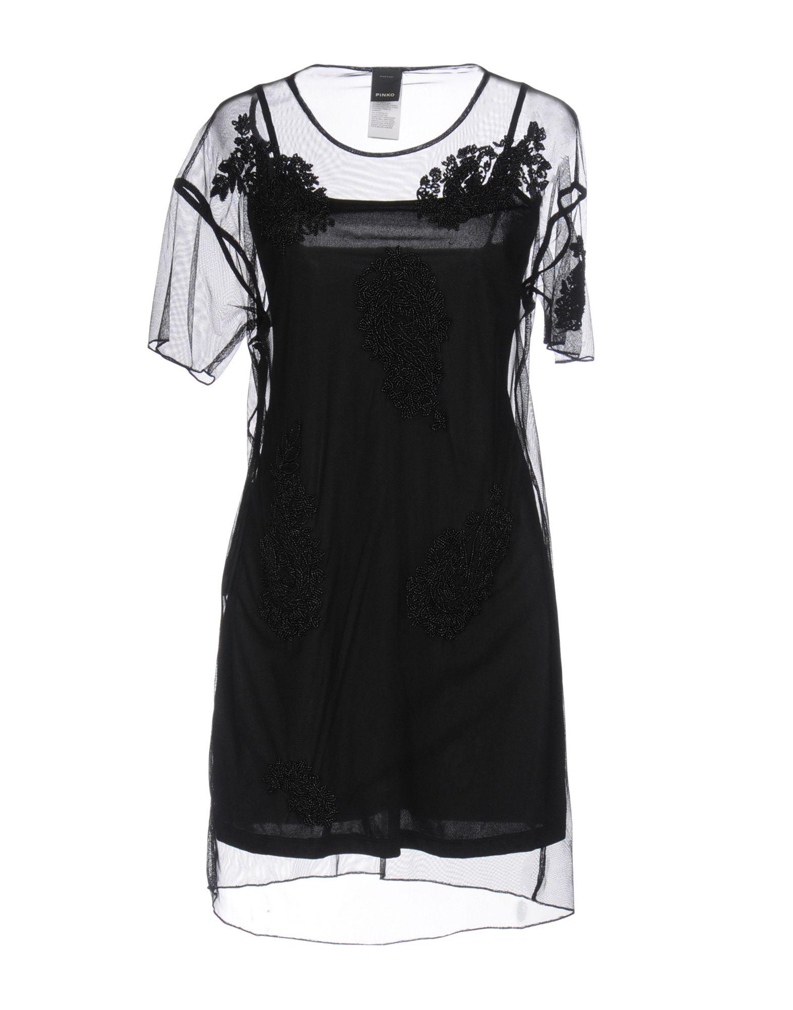 PINKO Damen Kurzes Kleid Farbe Schwarz Größe 6