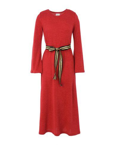 Фото - Платье длиной 3/4 красного цвета