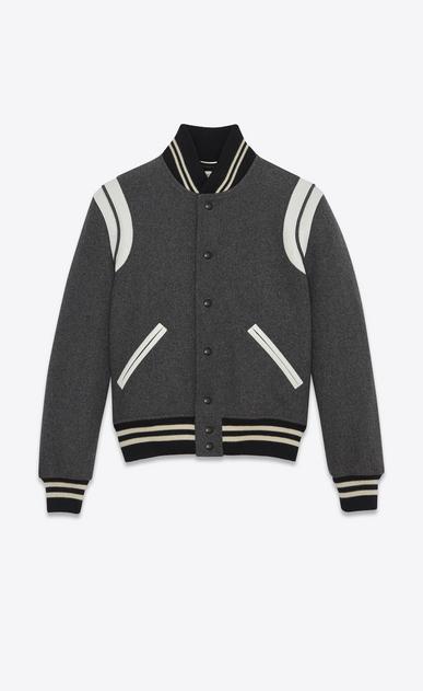 SAINT LAURENT Casual Jackets U Classic Teddy Jacket in Grey Wool v4