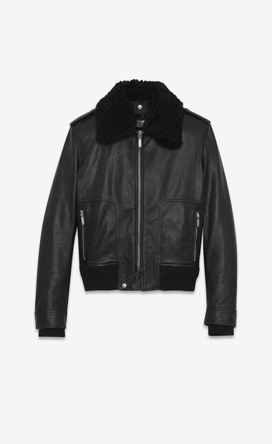 SAINT LAURENT Leather jacket U Car Jacket in Black Leather and Shearling v4