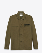 "SAINT LAURENT Casual Jackets U ""BAD LIEUTENANT"" Shirt Jacket in Khaki Cotton Gabardine f"