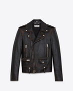 SAINT LAURENT Lederjacke U Classic Motorcycle Jacket in Black Vintage Leather f