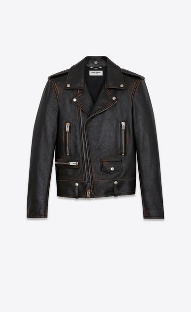 SAINT LAURENT Leather jacket U Classic Motorcycle Jacket in Black Vintage Leather v4