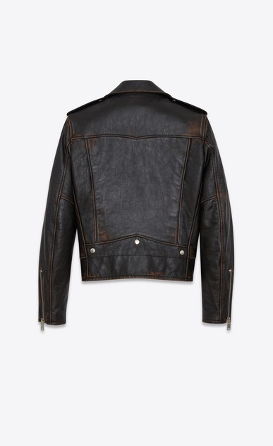 SAINT LAURENT Leather jacket U Classic Motorcycle Jacket in Black Vintage Leather b_V4