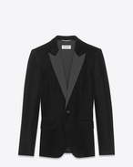 SAINT LAURENT Evening Jackets U Iconic LE SMOKING Jacket in Black Velvet f