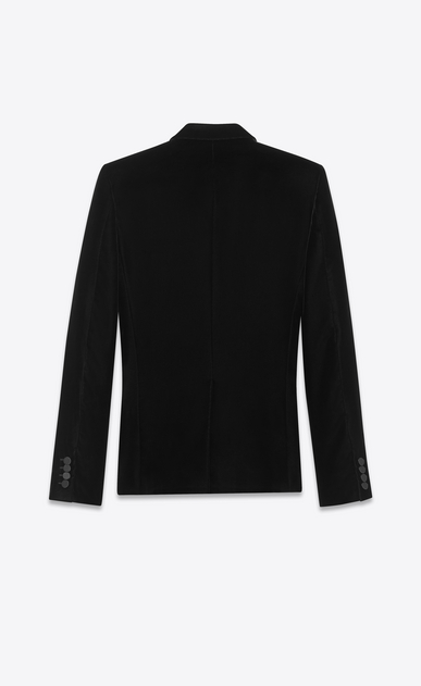 SAINT LAURENT Evening Jackets Man Iconic LE SMOKING Jacket in Black Velvet b_V4