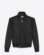 SAINT LAURENT Casual Jackets U Motorcycle Jacket in Black Waxed Cotton  f