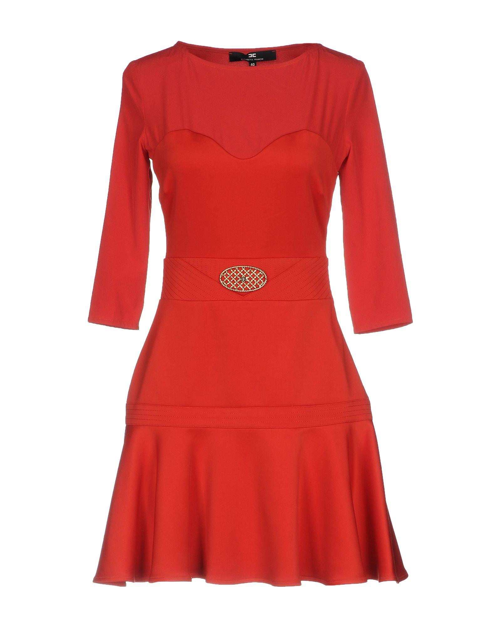 ELISABETTA FRANCHI Короткое платье elisabetta franchi черное асимметричное платье
