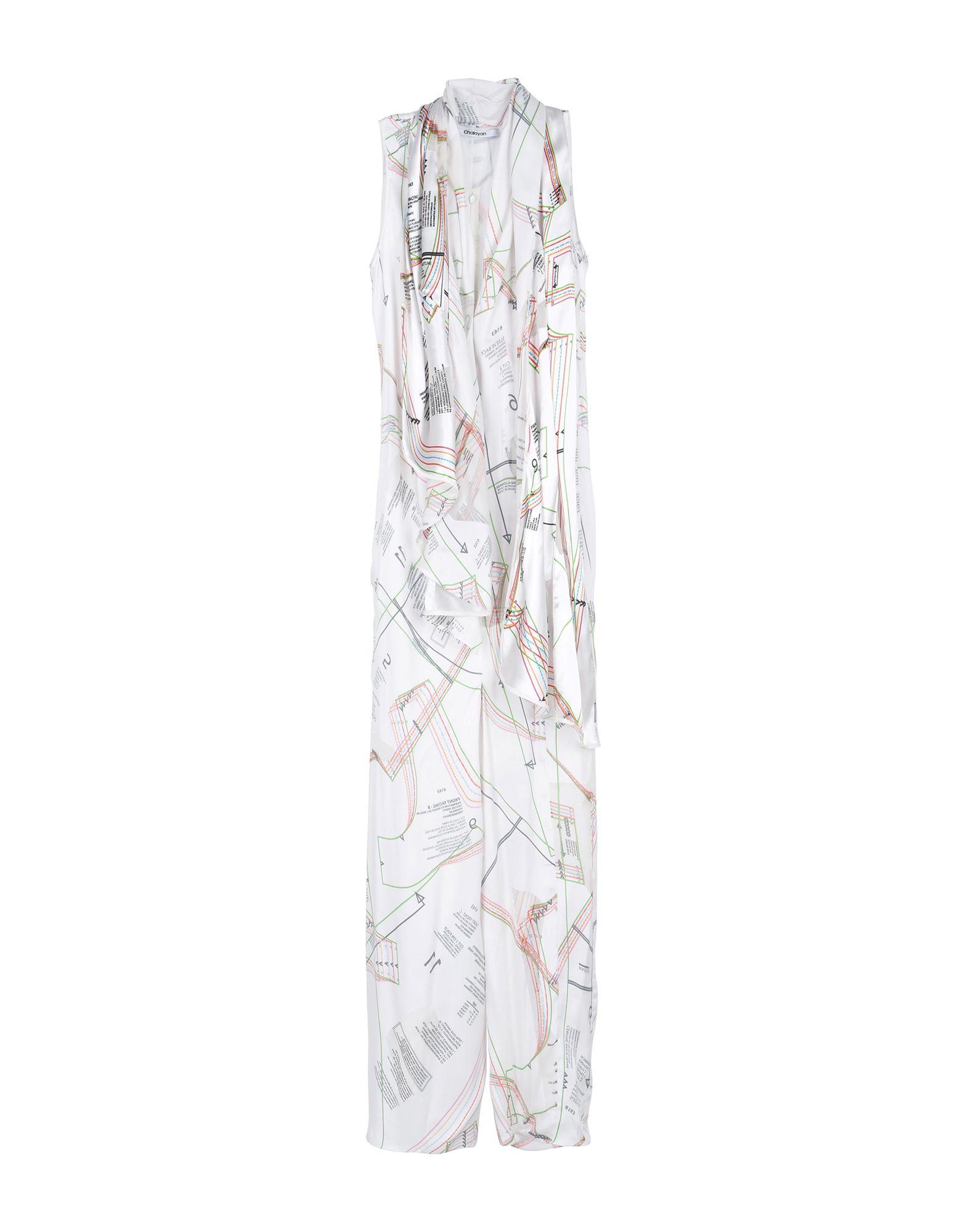 CHALAYAN Длинное платье платье короткое спереди длинное сзади летнее