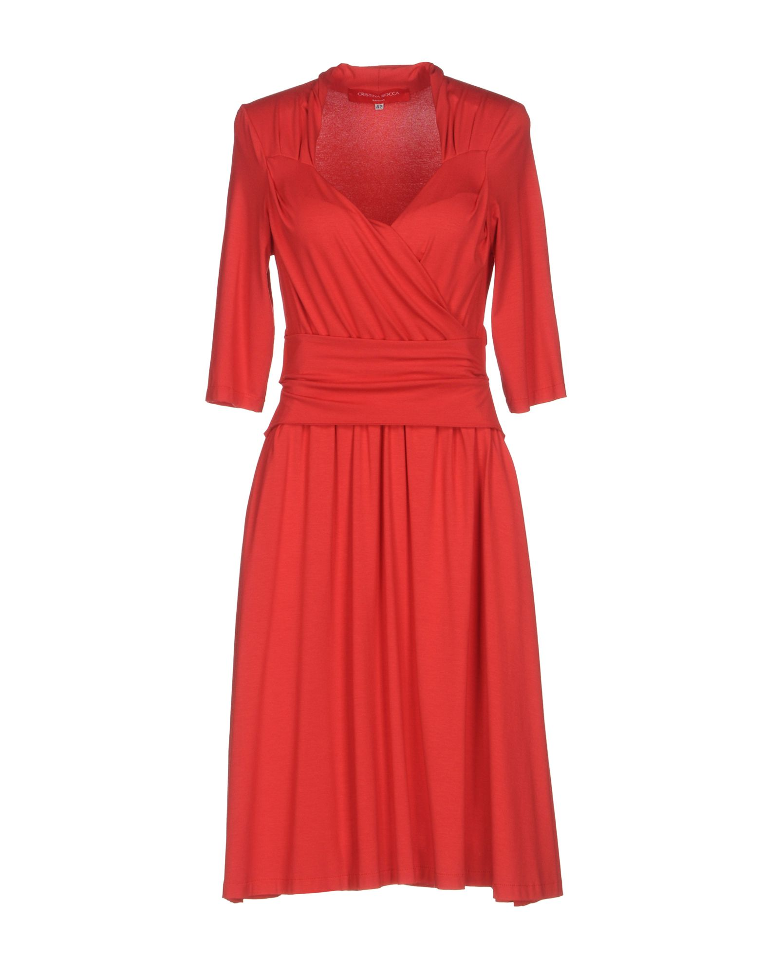 цена CRISTINA ROCCA Платье до колена онлайн в 2017 году