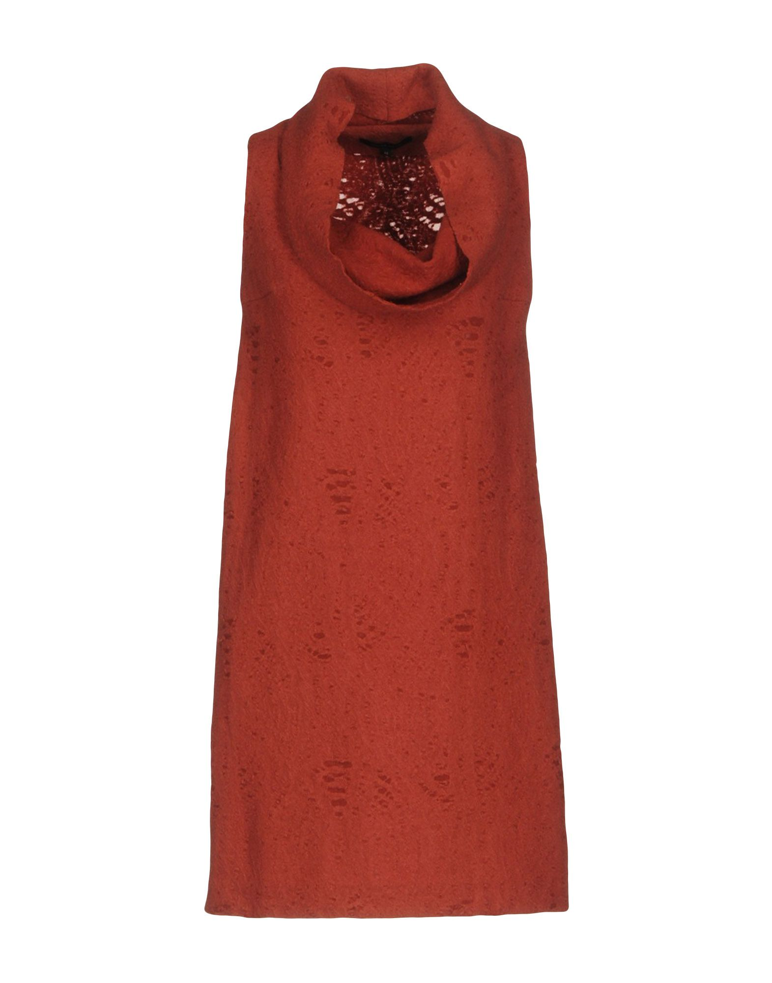 WALTER VOULAZ Short Dress in Brick Red