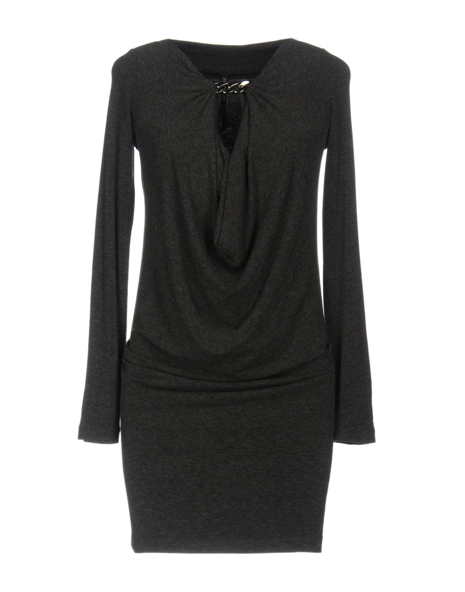 PLEIN SUD JEANIUS Short Dress in Steel Grey