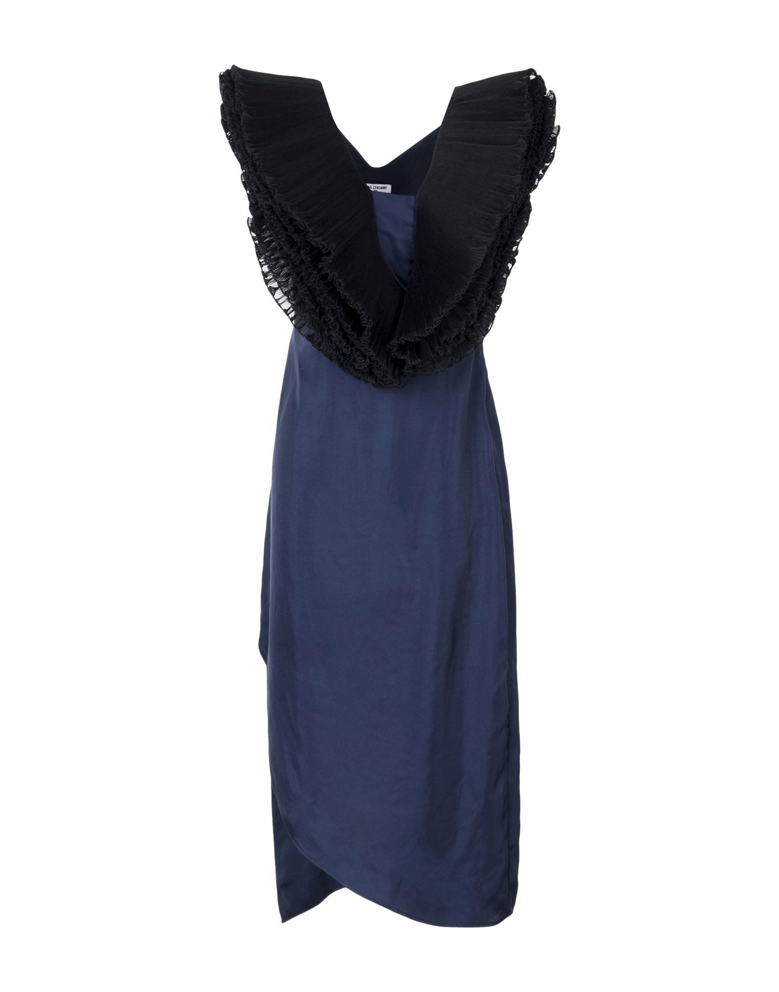 OPENING CEREMONY Damen Knielanges Kleid Farbe Dunkelblau Größe 2
