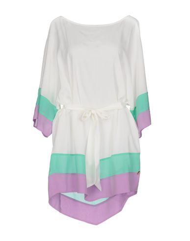 Короткое платье ANGELO MARANI. Цвет: белый