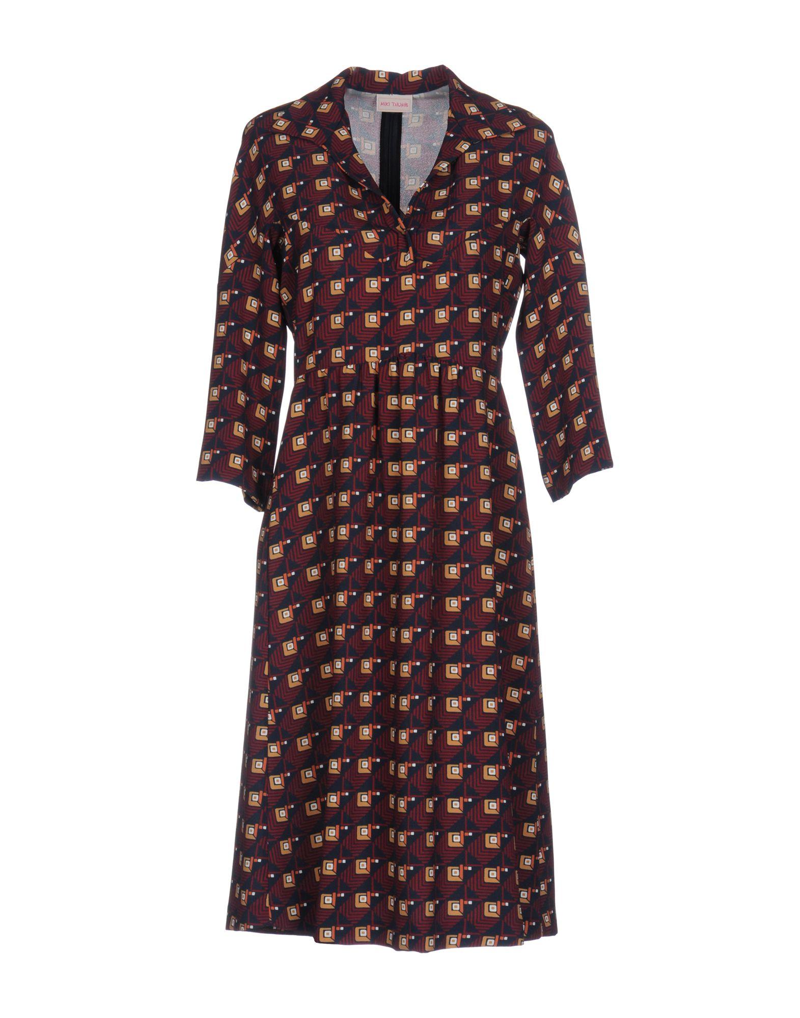 цена  MIKI THUMB Платье до колена  онлайн в 2017 году