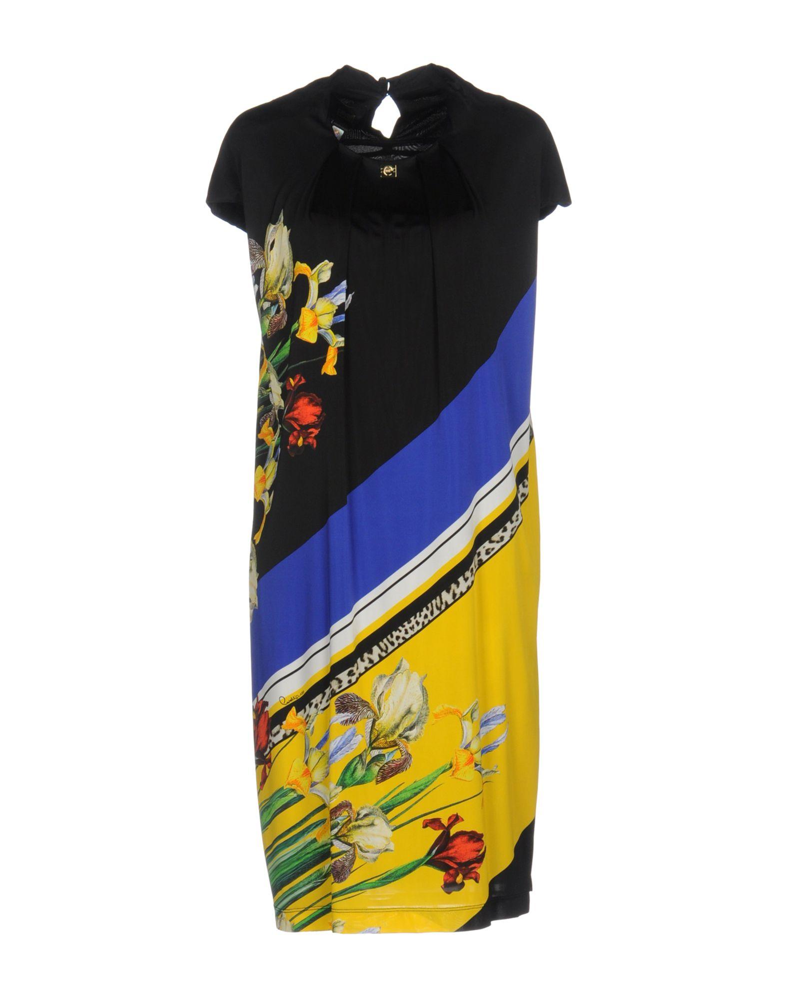 CLASS ROBERTO CAVALLI Damen Kurzes Kleid Farbe Schwarz Größe 7