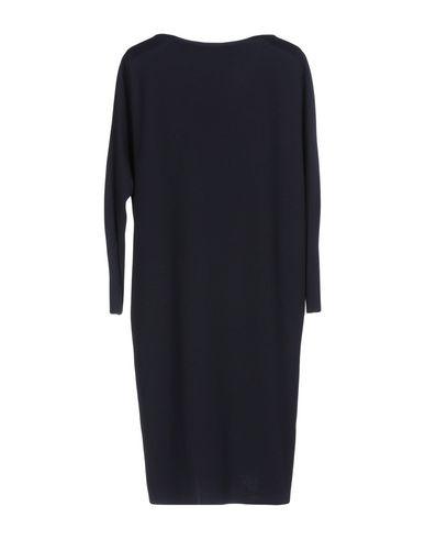 Фото 2 - Женское короткое платье HARRIS WHARF LONDON темно-синего цвета
