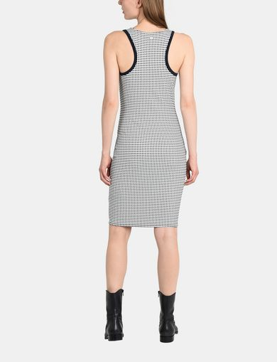 RACERBACK PATTERNED BODYCON DRESS