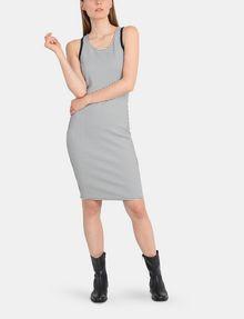 ARMANI EXCHANGE RACERBACK PATTERNED BODYCON DRESS Midi dress Woman a