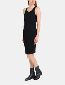 ARMANI EXCHANGE RACERBACK PATTERNED BODYCON DRESS Midi dress Woman d