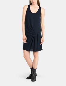 ARMANI EXCHANGE ASYMMETRICAL CINCH WAIST DRESS Mini dress Woman a