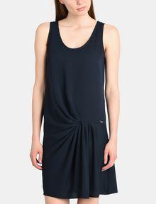 ARMANI EXCHANGE ASYMMETRICAL CINCH WAIST DRESS Mini dress Woman f