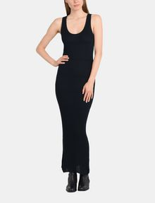 ARMANI EXCHANGE MAXI RIBBED SWEATER TANK DRESS Maxi dress Woman f