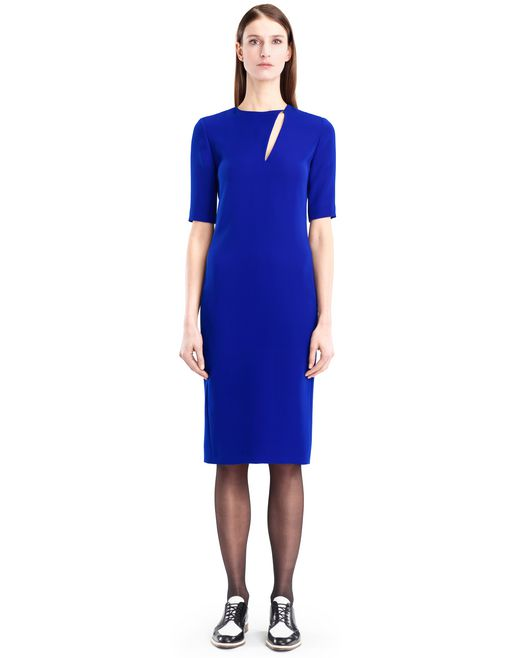 lanvin gitane blue cady dress women